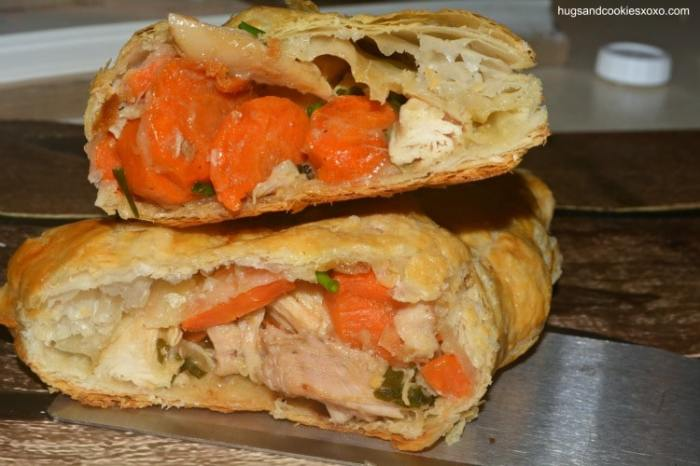 chicken pot pie turnover